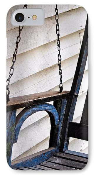 IPhone Case featuring the photograph Weathered Porch Swing by Debbie Karnes