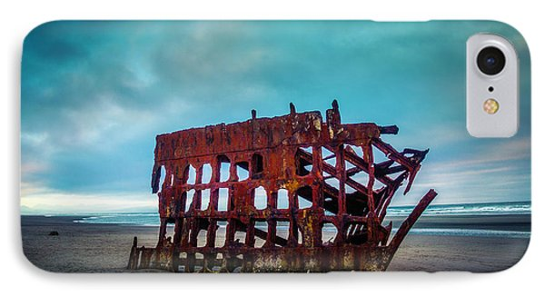 Weathered Rusting Shipwreck Phone Case by Garry Gay