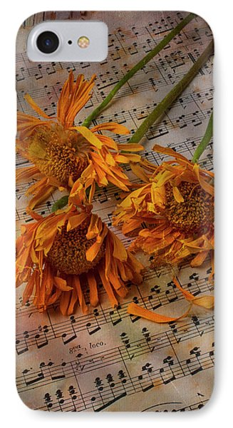 Weathered Sunflowers IPhone Case