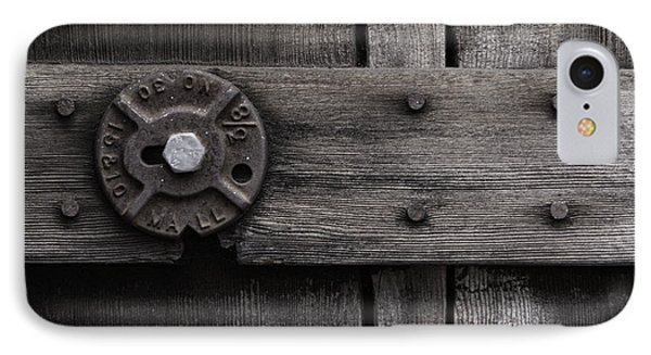 IPhone Case featuring the photograph Weathered Wood And Metal Four by Kandy Hurley