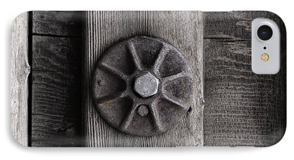 IPhone Case featuring the photograph Weathered Wood And Metal Three by Kandy Hurley