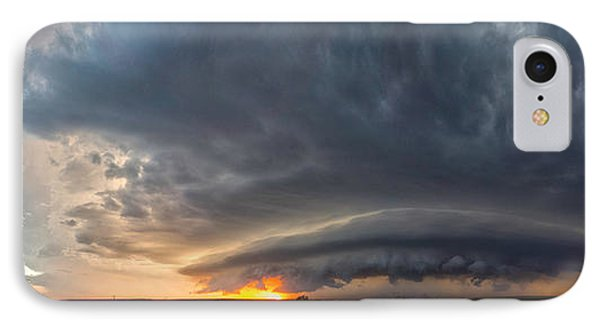 IPhone Case featuring the photograph Weatherford Oklahoma Sunset Supercell by James Menzies