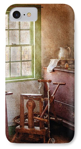 Weaving - In The Weavers Cottage Phone Case by Mike Savad