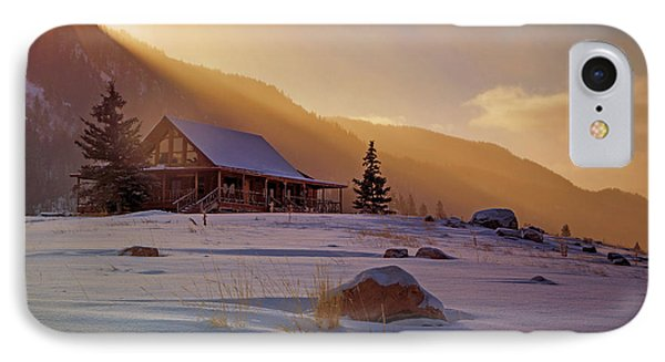 Weber Canyon Cabin Sunrise. IPhone Case by Johnny Adolphson
