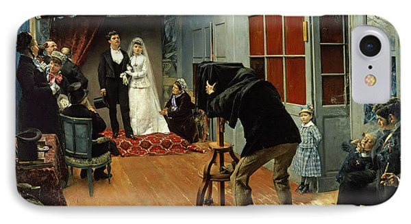 Wedding At The Photographer's IPhone Case by Pascal Adolphe Jean Dagnan-Bouveret