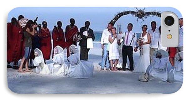 Wedding Complete Panoramic Kenya Beach IPhone Case by Exploramum Exploramum