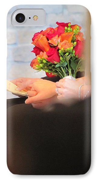 Wedding Hands Phone Case by Kelly Mezzapelle