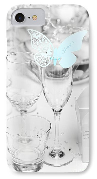 Wedding Table Decoration At Reception IPhone Case by Jorgo Photography - Wall Art Gallery