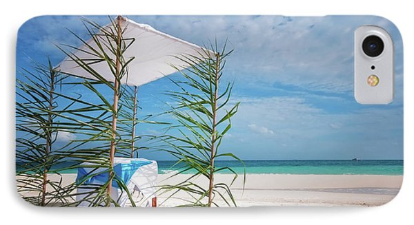 IPhone Case featuring the photograph Wedding Tent On The Beach by Jenny Rainbow