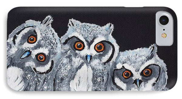 Wee Owls IPhone Case by Scott Wilmot