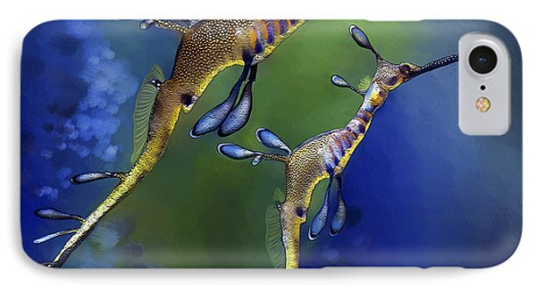 Weedy Sea Dragon IPhone Case by Thanh Thuy Nguyen