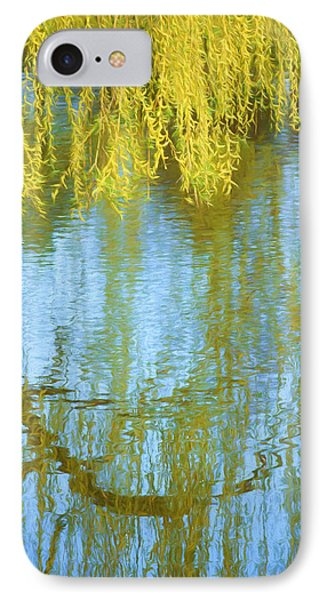 Weeping Willow - Reflections In Water IPhone Case by Nikolyn McDonald