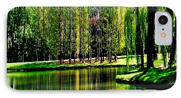 Weeping Willow Tree Reflective Moments IPhone Case by Carol F Austin