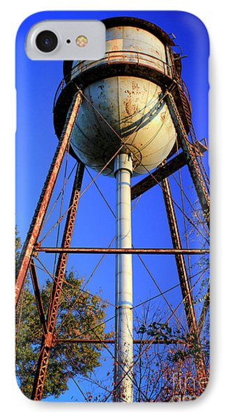 IPhone Case featuring the photograph Weighty Water Cotton Mill  Water Tower Art by Reid Callaway