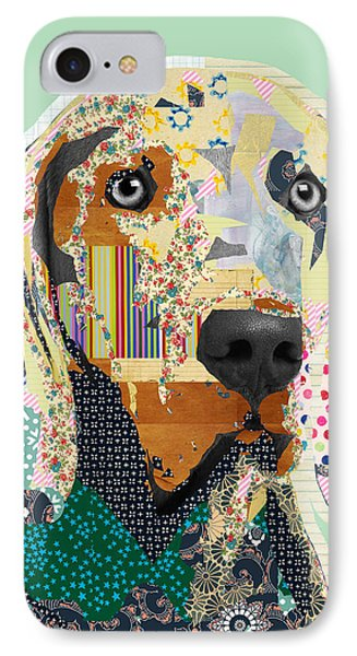 Weimaraner Collage IPhone Case by Claudia Schoen