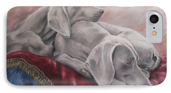 Weimaraner IPhone Case by Daniele Trottier