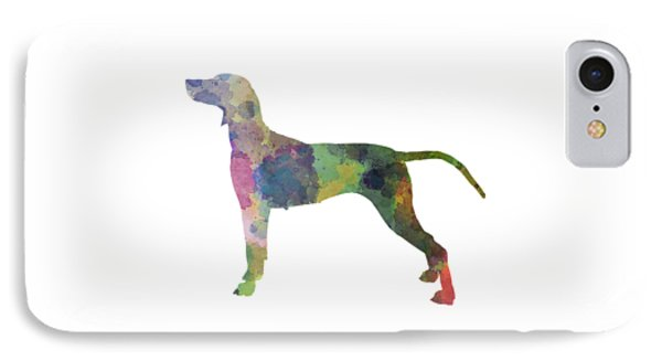 Weimaraner In Watercolor IPhone Case by Pablo Romero