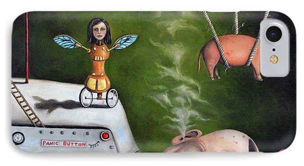 Weird Science-the Robot Factory Phone Case by Leah Saulnier The Painting Maniac