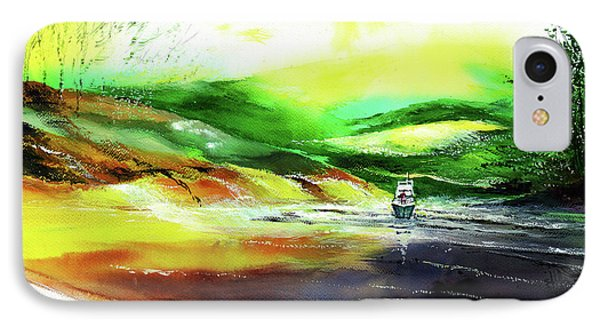 IPhone Case featuring the painting Welcome Back by Anil Nene