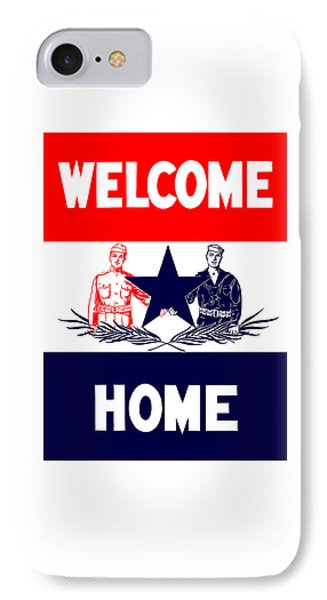 Vintage Welcome Home Military Sign IPhone Case by War Is Hell Store