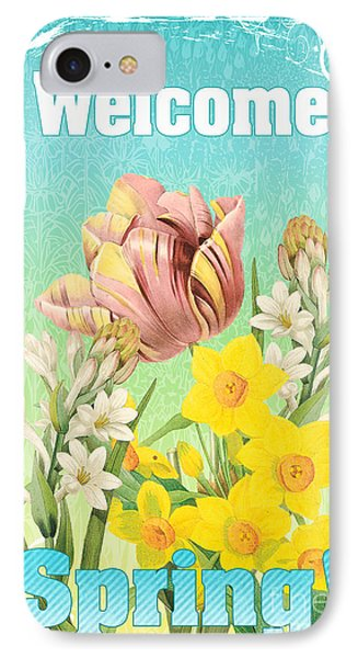 Welcome Spring Flowers-jp2775 IPhone Case by Jean Plout