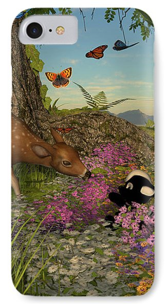 IPhone Case featuring the digital art Welcome Spring by Methune Hively