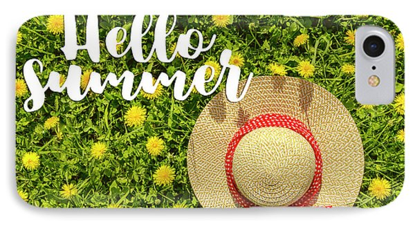 IPhone Case featuring the photograph Welcome Summer by Teri Virbickis