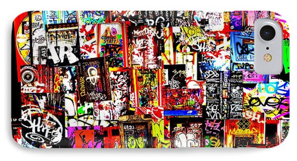 Welcome To Barcelona Graffiti Nirvana Phone Case by Funkpix Photo Hunter