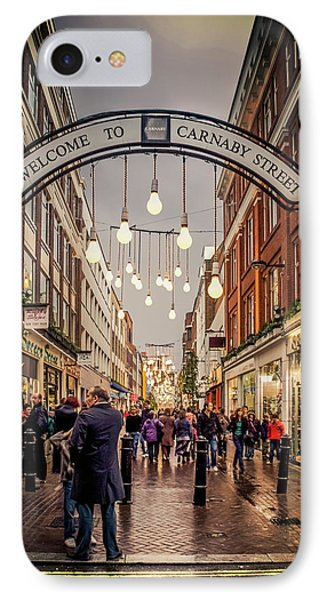 Welcome To Carnaby Street London Phone Case by Alex Saunders