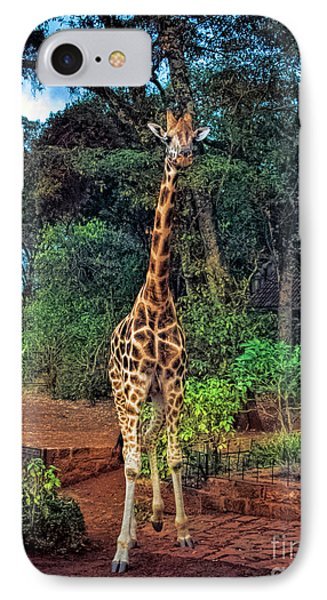 Welcome To Giraffe Manor IPhone Case by Karen Lewis