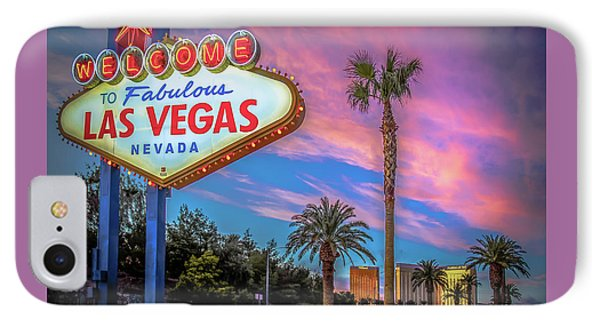 Welcome To Las Vegas IPhone Case by Mark Dunton