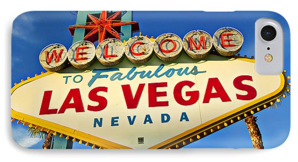 Welcome To Las Vegas Sign IPhone Case by Garry Gay