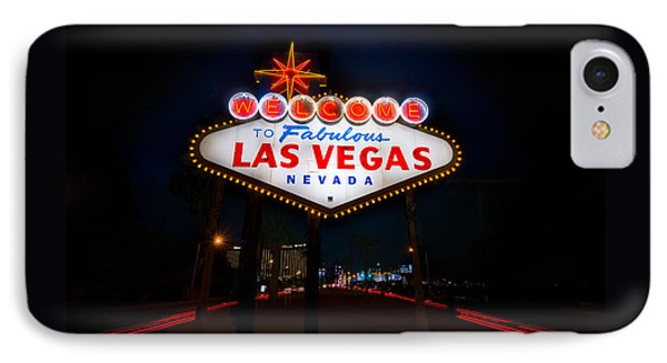 Welcome To Las Vegas Phone Case by Steve Gadomski