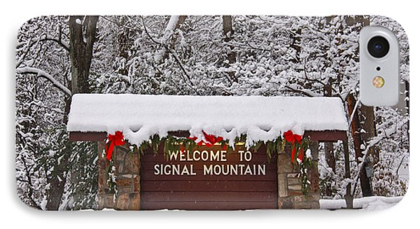 Welcome To Signal Mountain Phone Case by Tom and Pat Cory