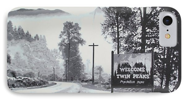 Welcome To Twin Peaks Phone Case by Ludzska