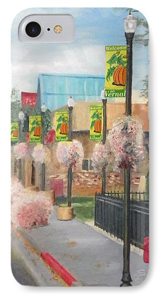 IPhone Case featuring the painting Welcome To Vernal by Sherril Porter
