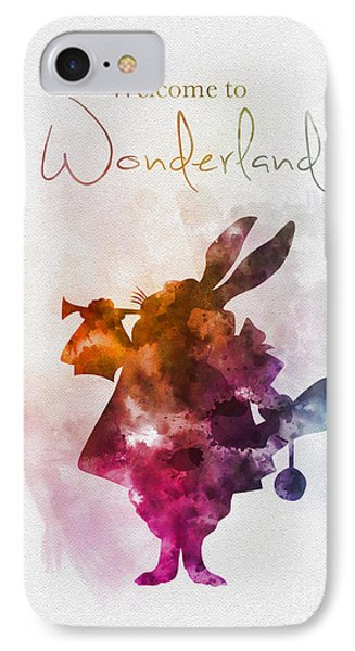 Welcome To Wonderland IPhone Case by Rebecca Jenkins