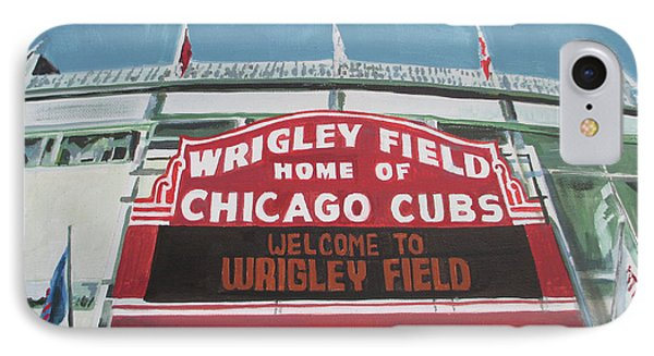 Welcome To Wrigley IPhone Case by Marietta Faso
