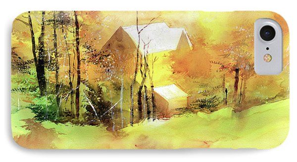 IPhone Case featuring the painting Welcome Winter by Anil Nene