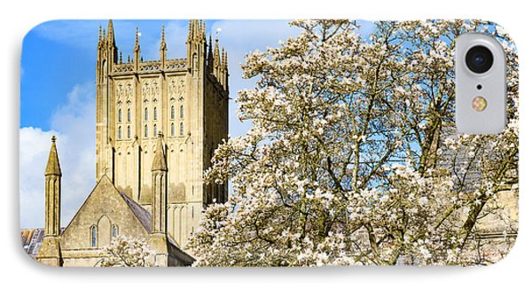 Wells Cathedral And Spring Blossom IPhone Case