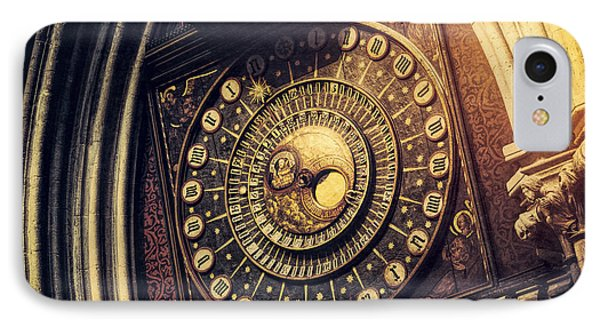 Wells Cathedral Astronomical Clock  IPhone Case by Tim Gainey