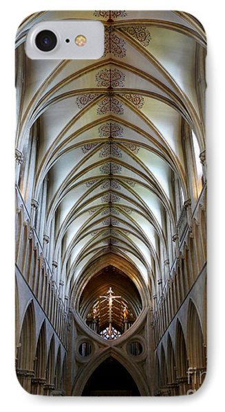 Wells Cathedral Ceiling  IPhone Case by Lexa Harpell