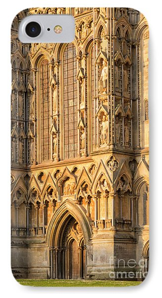 IPhone Case featuring the photograph Wells Cathedral Golden Glow by Tim Gainey