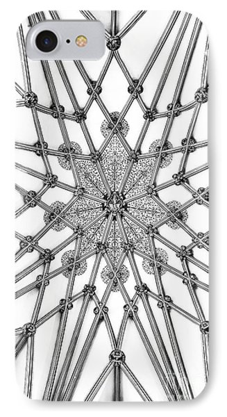 IPhone Case featuring the photograph Wells Cathedral Lady Chapel Ceiling by Tim Gainey