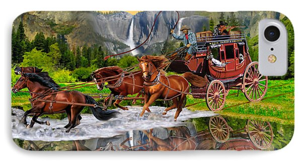 Wells Fargo Stagecoach IPhone Case by Glenn Holbrook