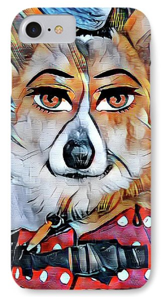 Welsh Corgi Portrait IPhone Case