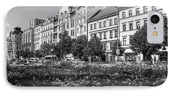 IPhone Case featuring the photograph Wenceslas Square In Prague by Jenny Rainbow