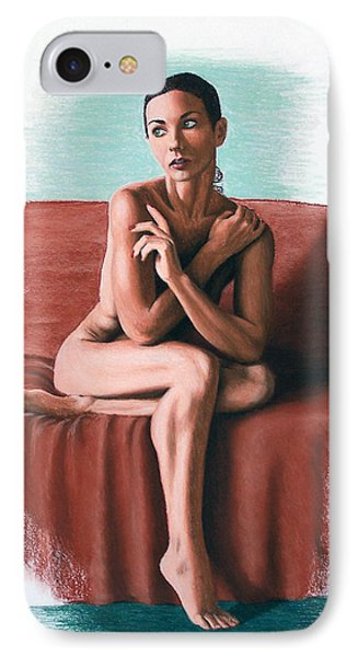 IPhone Case featuring the painting Wenona  Exposed by Joseph Ogle