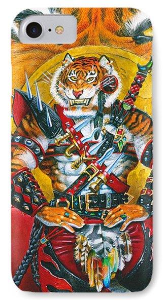 Werecat Warrior Phone Case by Melissa A Benson
