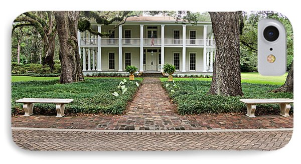 Wesley House Front IPhone Case by Sandy Keeton